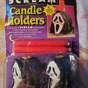SCREAM CANDLE HOLDERS BLACK